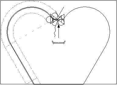 how to make geometric heart on wakk